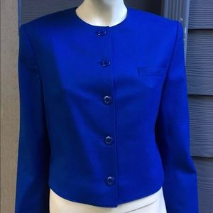 Miss Pendleton Women's Blazer Blue 100% Wool Sz 12